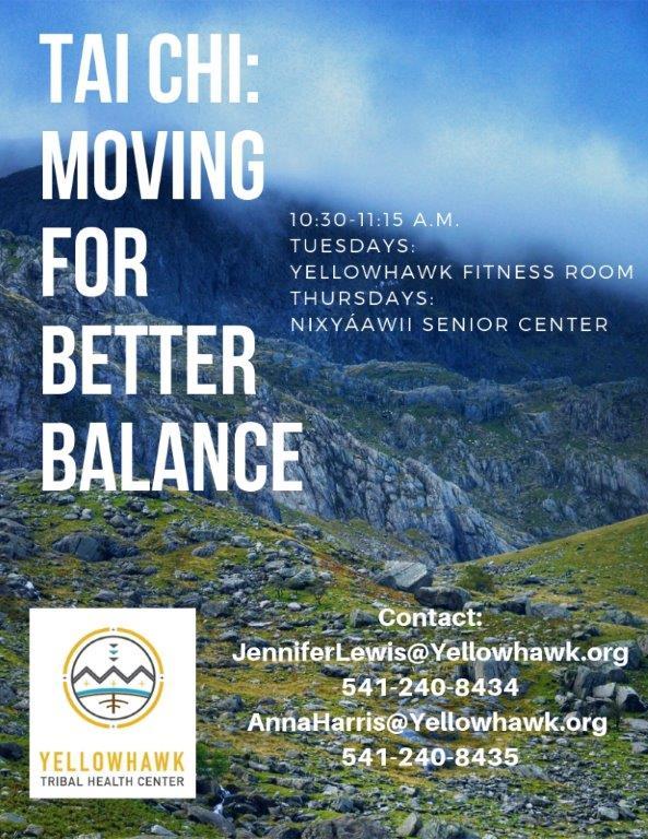 Tai Chi: Moving for Better Balance - Yellowhawk Tribal
